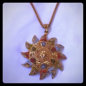 Jewelry - New Indian Bollywood Gold plated pendant and chain